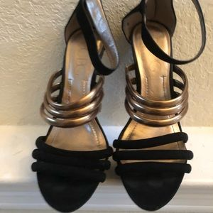 BCBG women strapping heels